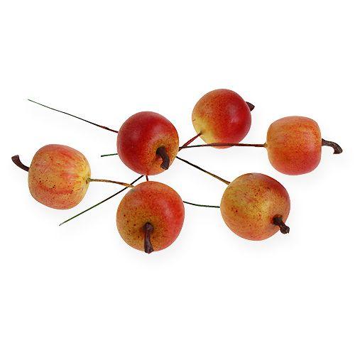 Konstgjord äpple 3cm på tråd 24st
