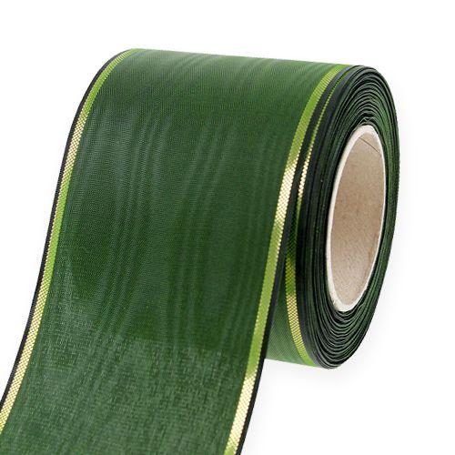 Kransband mörkgrönt 75mm 25m