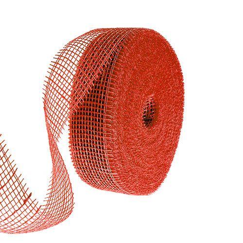 Juteband röd 5cm 40m