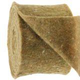 Pottejp filttejpgrön med prickar 15cm x 5m