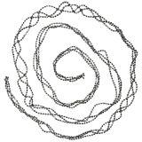 Juldekoration pärl kransgrå 275cm