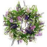 Krans checkerboard blomma / lavendel / lila Ø28cm