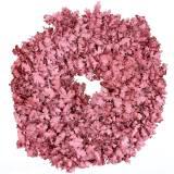 Krans ek lämnar rosa vaxade Ø38cm