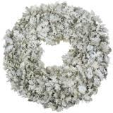 Krans ekblad tvättade vita Ø38cm