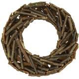 Dekorativ krans med grenar och bark mossiga Ø40cm
