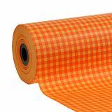 Manschettpapper 25 cm 100m orange check