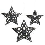 Julstjärna med ornament silvergrå blandade 8cm - 12cm 9st
