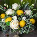 Konstgjord frukt, citron, dekorativa frukter L8,5cm Ø5cm 4st
